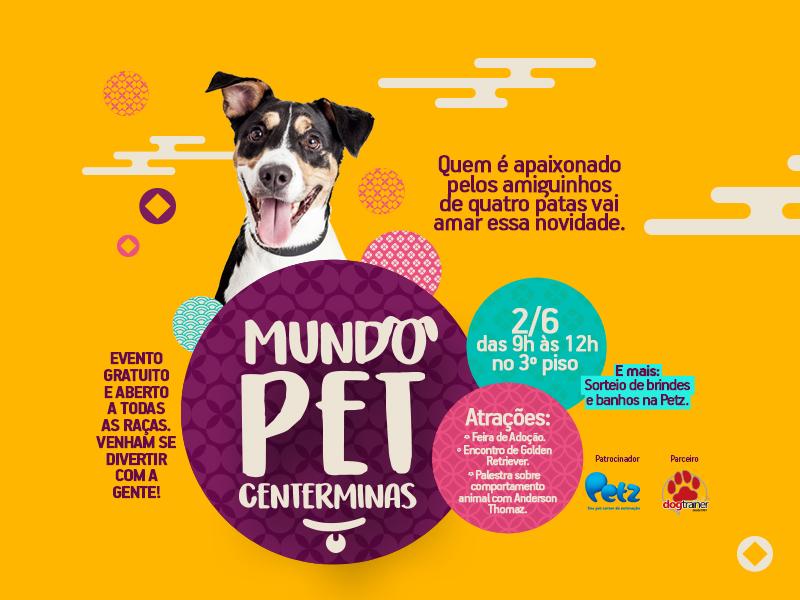 """Primeira edição do projeto """"Mundo Pet Centerminas"""" é adiada"""