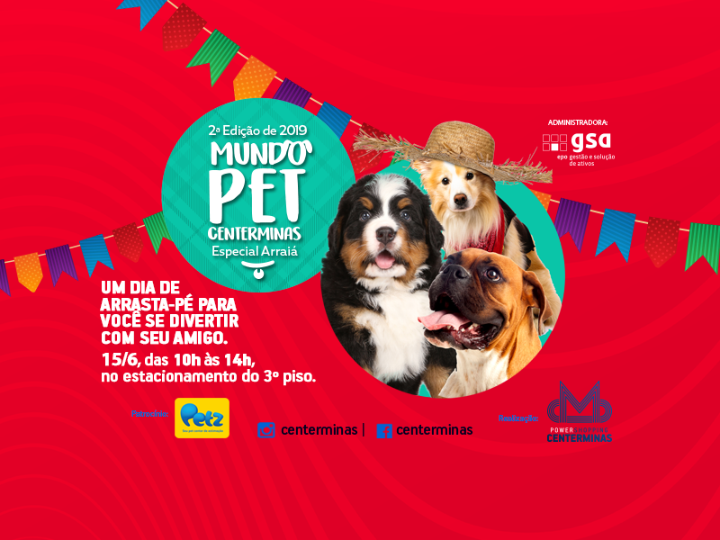 "Arraiá Pet"" invade o Power Shopping Centerminas"