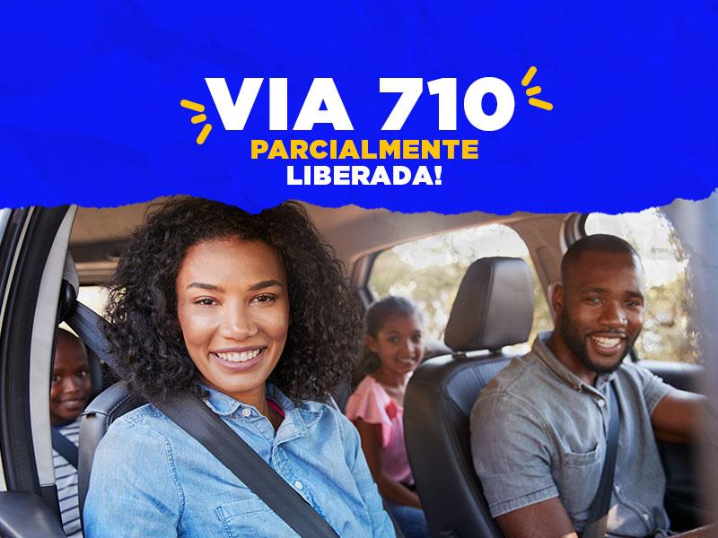 VIA 710 Parcialmente liberada - Agilidade, facilidade e rapidez para chegar ao Centerminas.